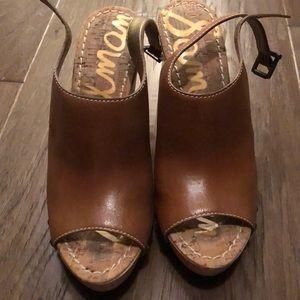 Sam Edelman Wedge Sandal with Peep-toe